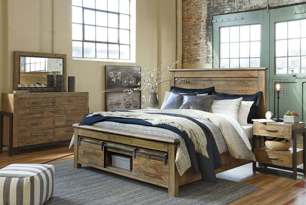 Best Ashley Furniture B775 Sommerford Modern Queen King Panel Bed Frame Bedroom Set Ebay With Pictures