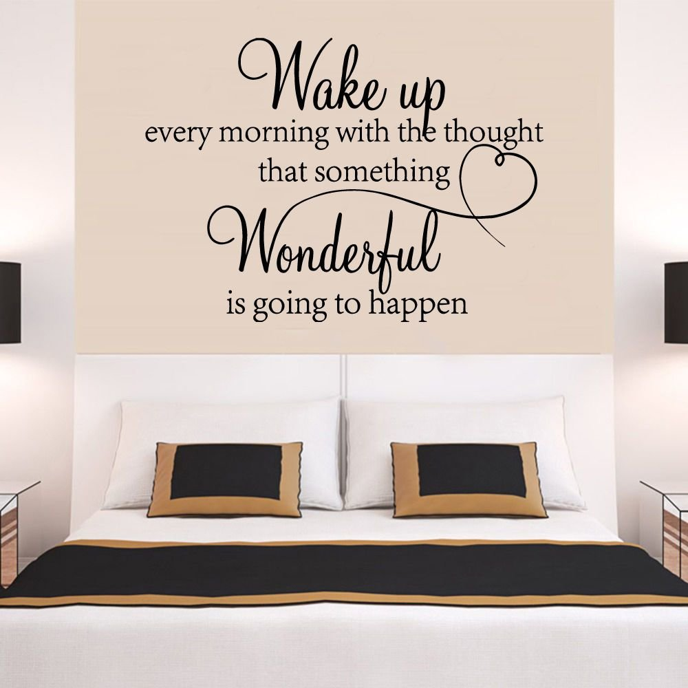 Best Heart Family Wonderful Bedroom Quote Wall Stickers Art With Pictures