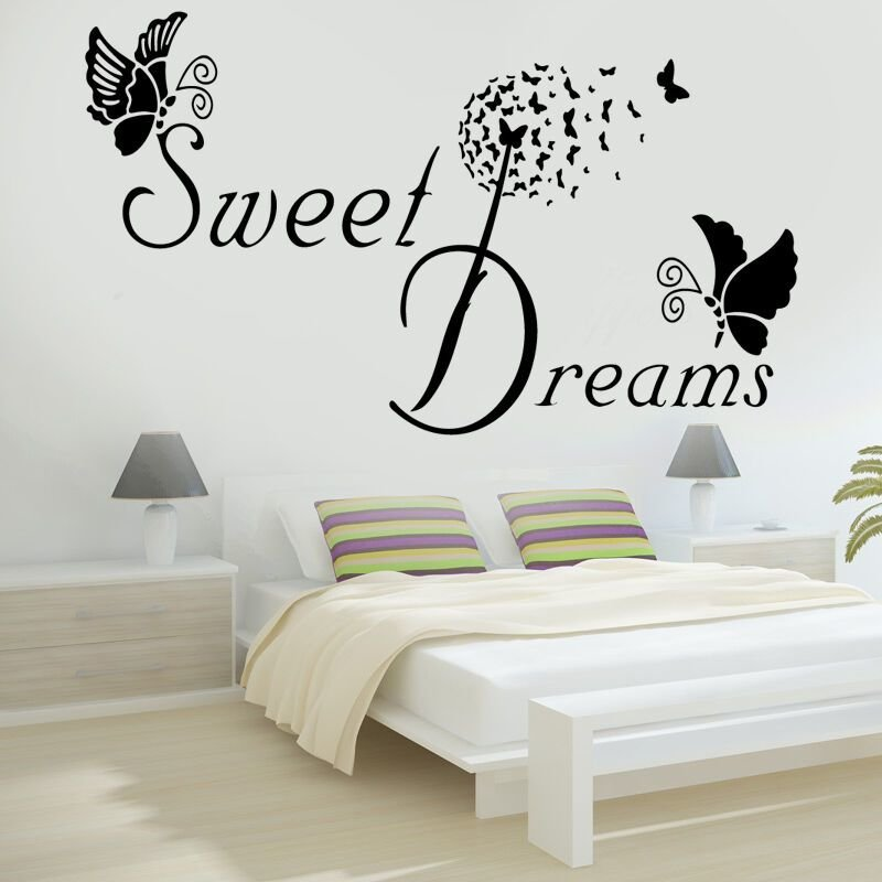 Best Sweet Dreams Butterfly Love Quote Wall Stickers Bedroom With Pictures