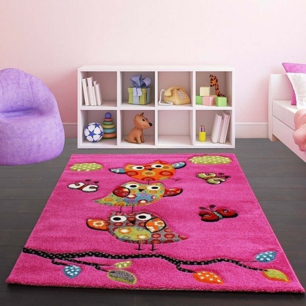 Best Childrens Rug Kids Carpet Girls Room Pink Nursery Mat With Pictures