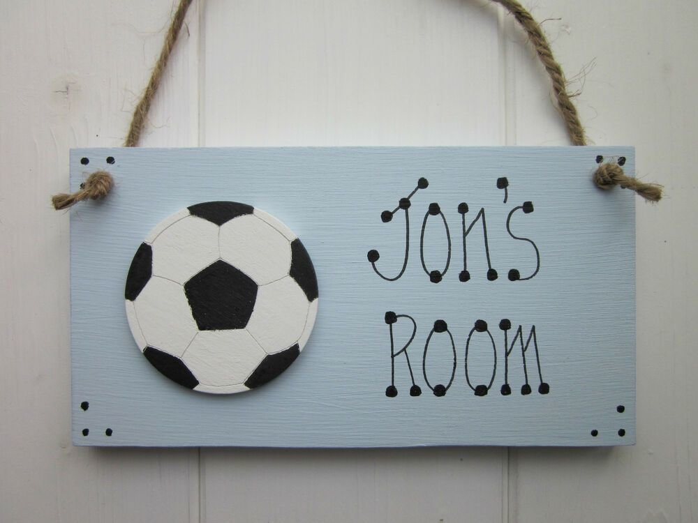 Best Football Personalised Name Boys Girls Bedroom Door Sign With Pictures