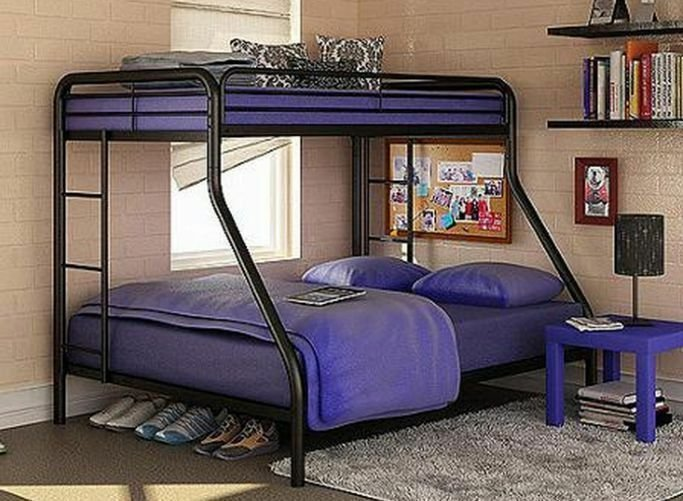 Best Twin Over Full Bunk Beds Metal Bunkbeds Kids Teens Dorm With Pictures