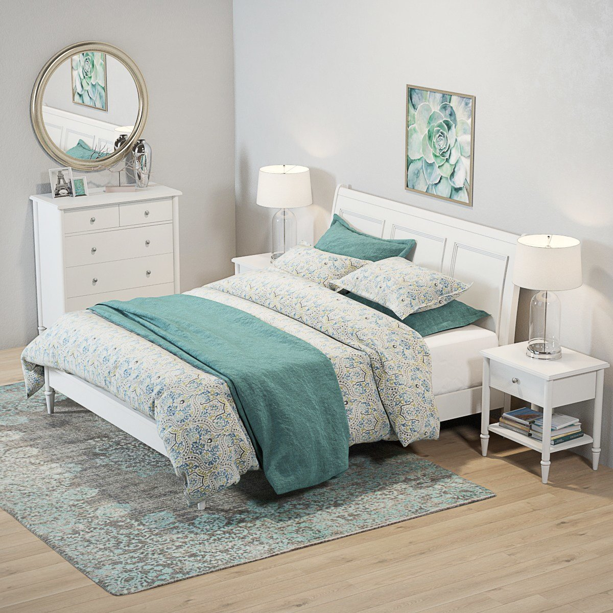 Best Pottery Barn Crosby White Bedroom Set With Decor With Pictures