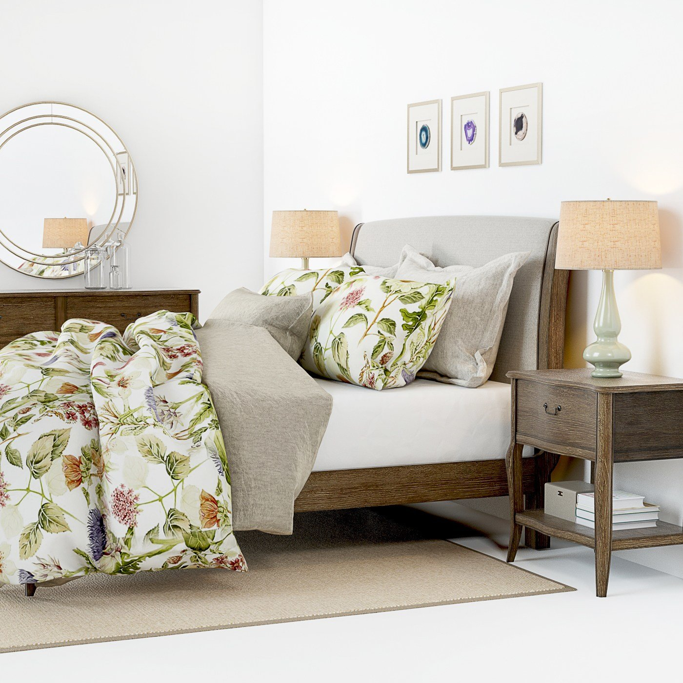 Best 3D Model Pottery Barn Calistoga Bed Furniture 3D Models With Pictures