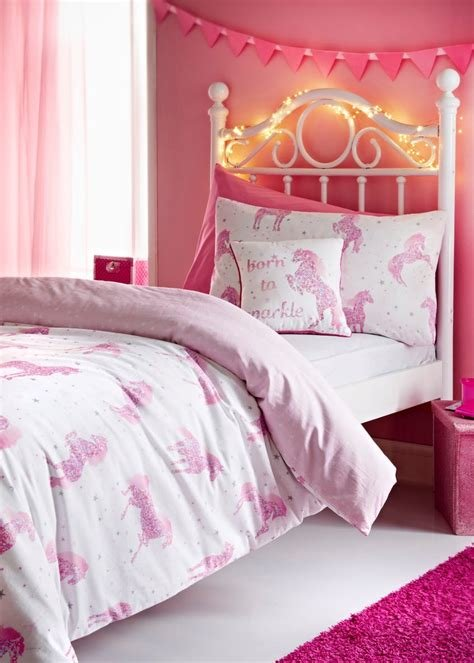 Best Kids 100 Cotton Starlight The Unicorn Duvet Cover – Pink With Pictures