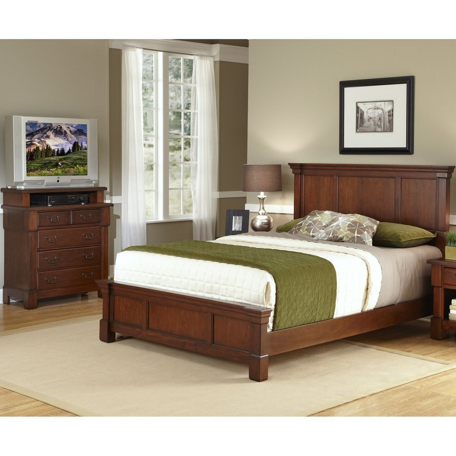 Best Home Styles Aspen Rustic Cherry Queen Bedroom Set At Lowes Com With Pictures