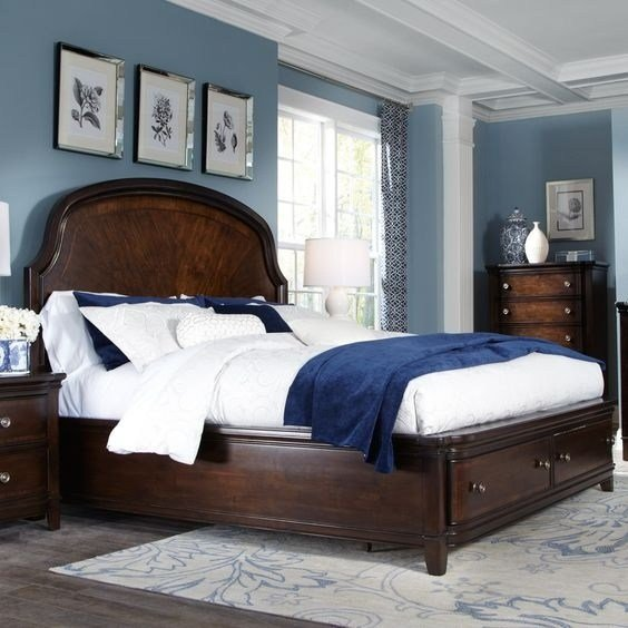 Best In My Bedroom I Have Large Very Dark Brown Furniture What With Pictures