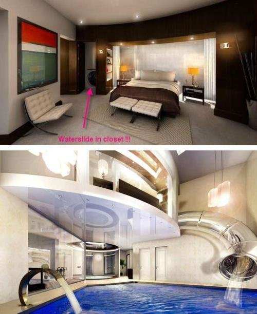 Best Slide From Bedroom To Swimming Pool Buffet O Blog With Pictures