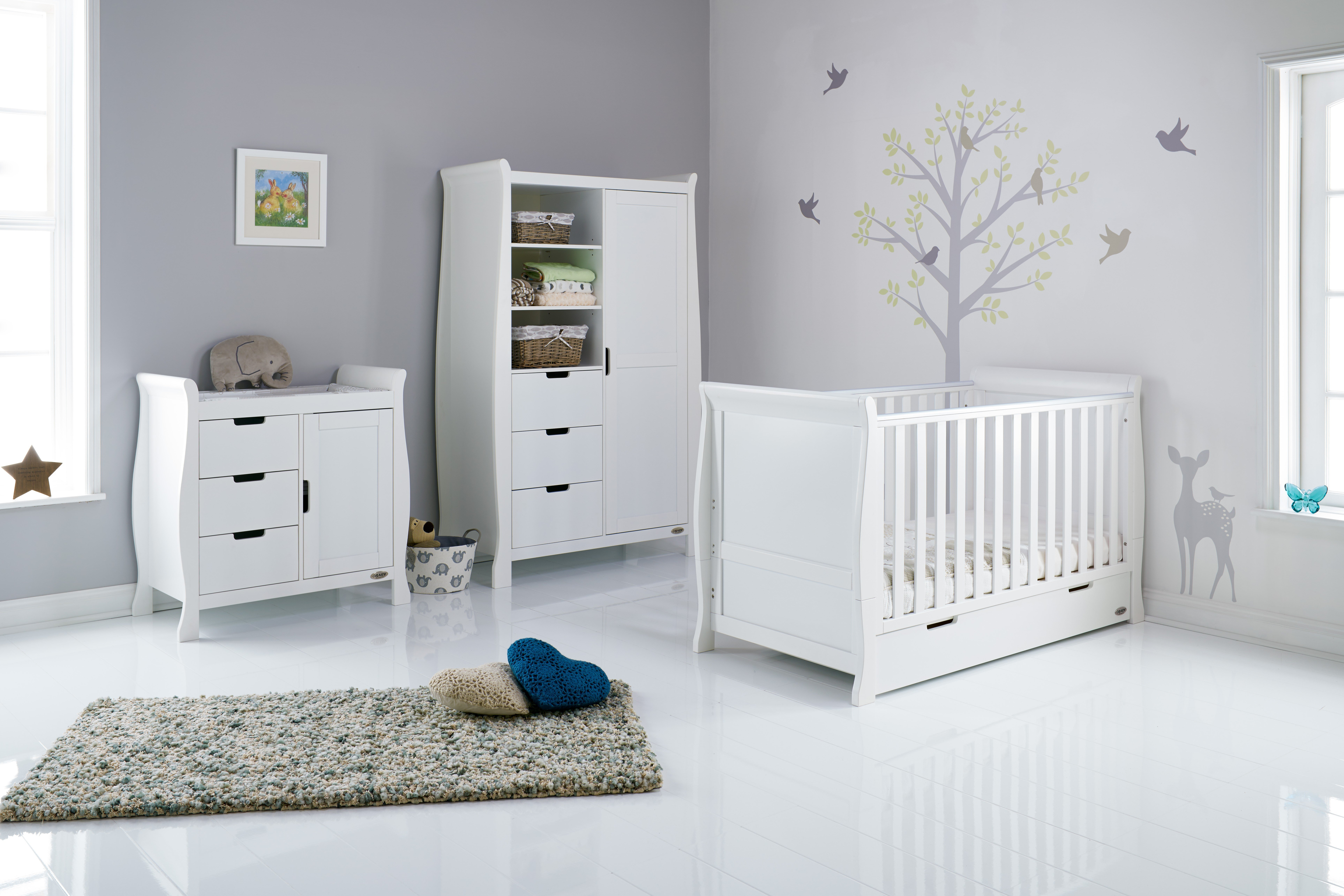 Best Stamford Cot Bed 3 Piece Nursery Furniture Set Baby Cribs With Pictures