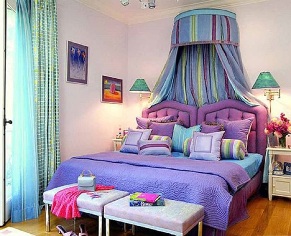 Best Decorating The Bedroom With Green Blue And Purple With Pictures