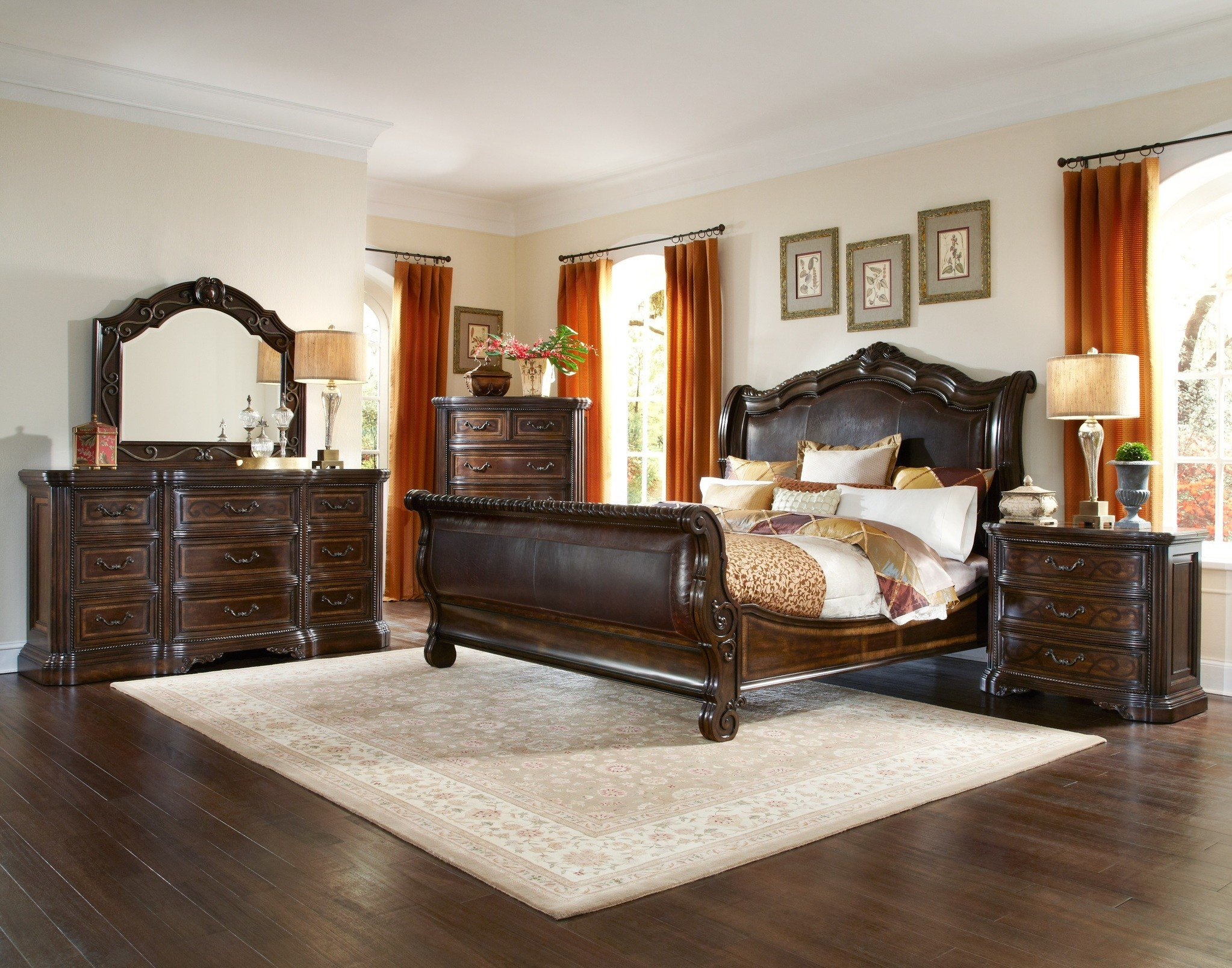 Best The Valencia Sleigh Bedroom Collection Bedroom Furniture With Pictures