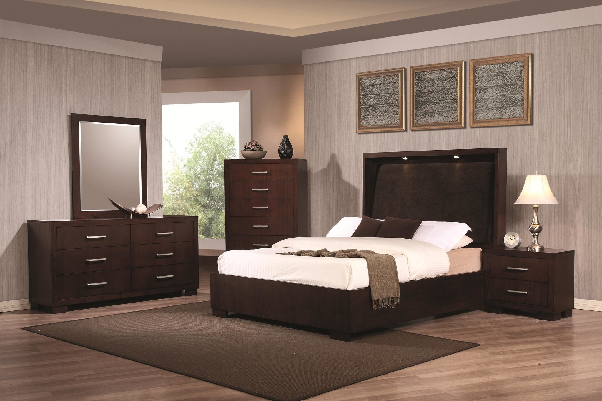 Best The Jessica Bedroom Collection With Touch Lighting With Pictures