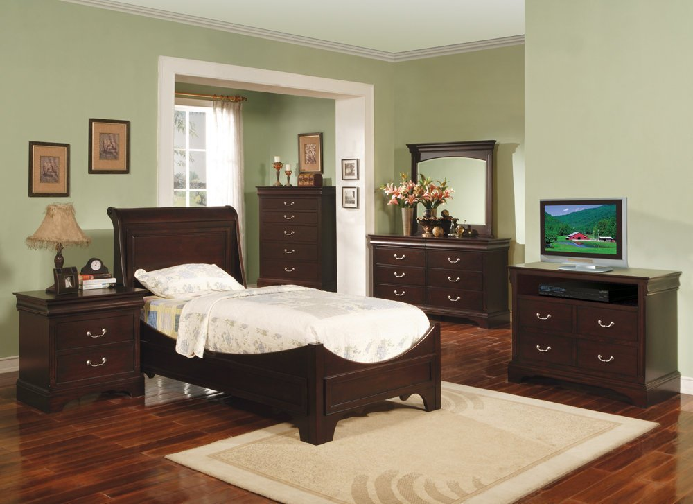 Best Renaissance Youth Espresso Sleigh Bedroom Set Bedroom Furniture Bedroom Sets With Pictures