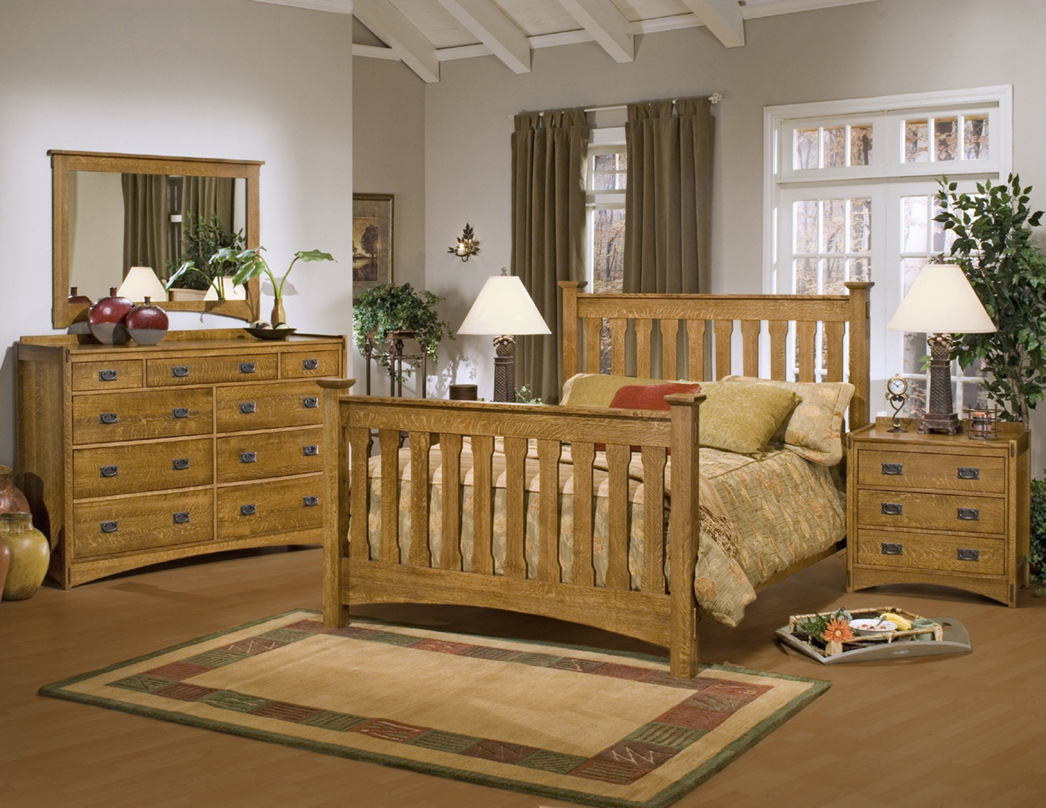 Best Mission Bedroom Furniture Classic Wood Mission Style With Pictures