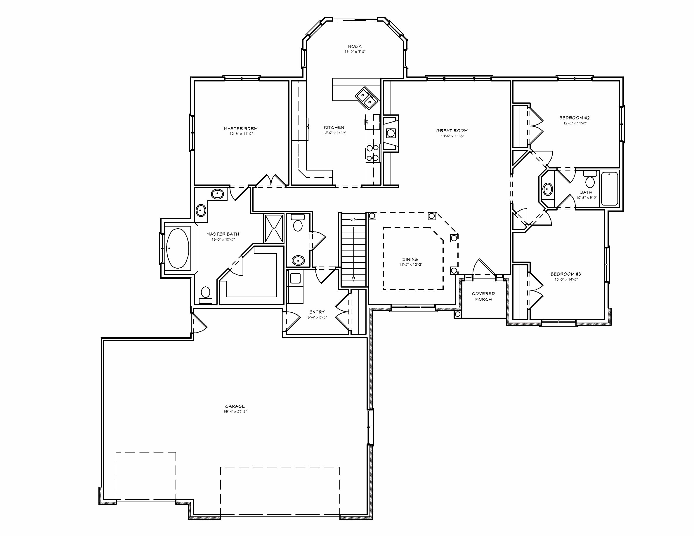 Best Three Bedroom Split Ranch House Plan Car Garage House Plans 85857 With Pictures