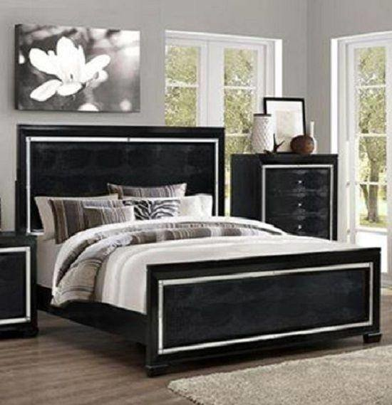 Best Crown Mark Rb7200 Aria Modern Black Finish Solid Wood With Pictures