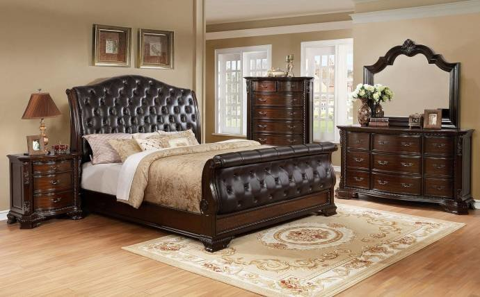 Best Crown Mark B1100 88 Sheffield Camel Sleigh King Bedroom With Pictures