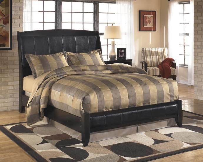 Best Ashley Harmony B208 King Size Sleigh Bedroom Set 6Pcs In Dark Brown B208 31 36 46 78 76 92 2 With Pictures