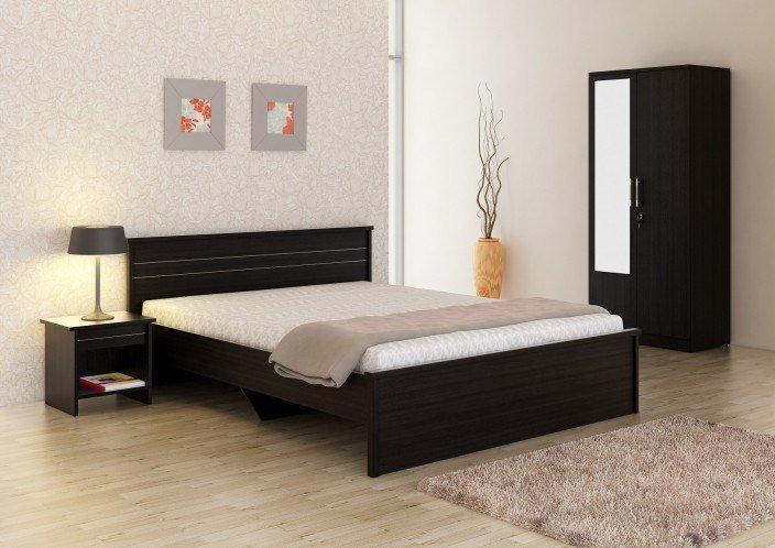 Best Spacewood Engineered Wood Bed Side Table Wardrobe With Pictures