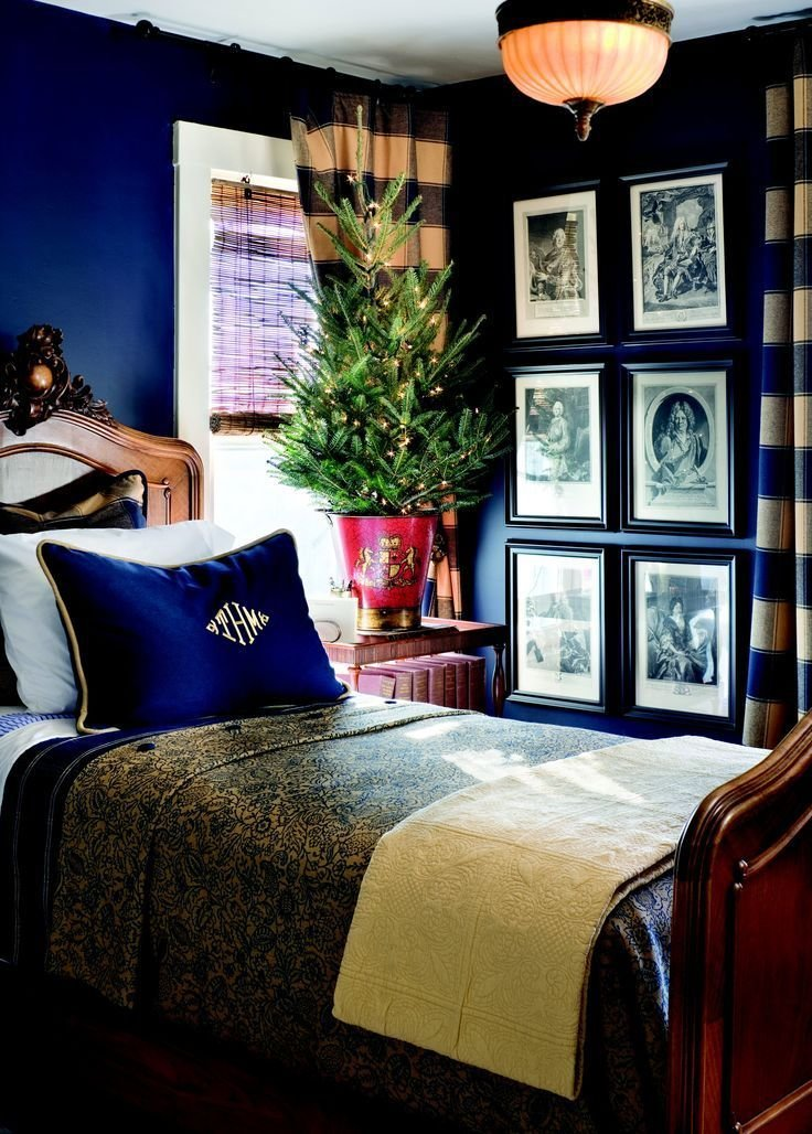 Best Sence Of Style — Homedecoratingx Dark Blue Bedroom Walls With Pictures