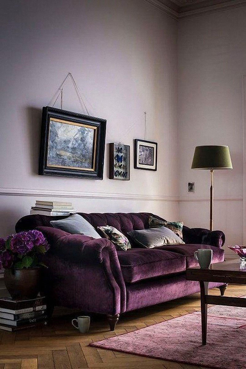 Best 12 Royally Purple Velvet Sofas For The Living Room With Pictures
