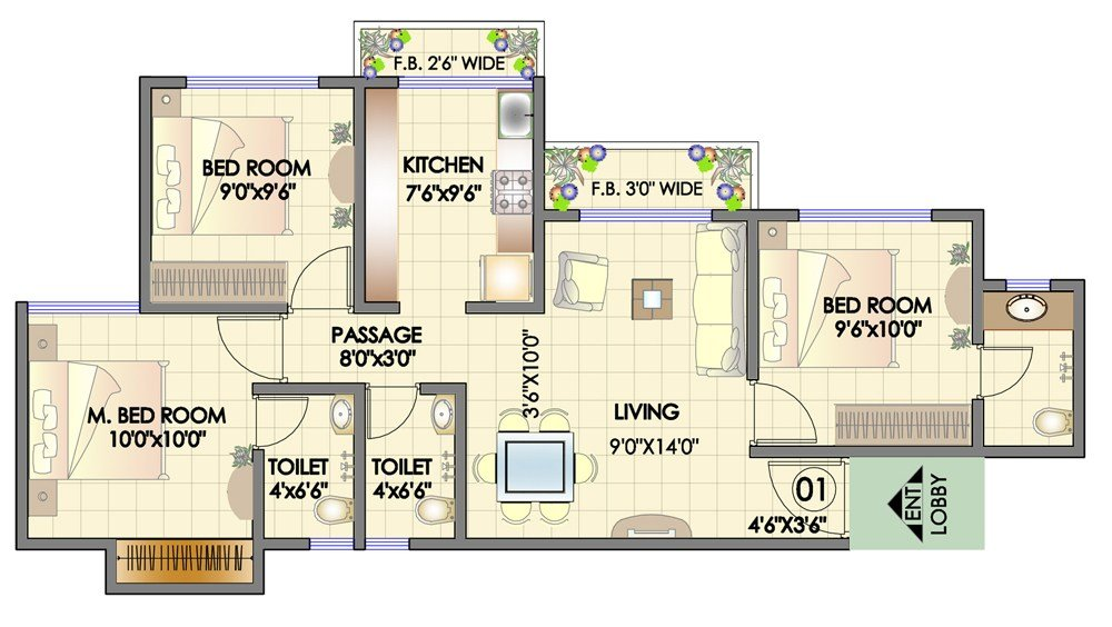 Best 3 Bedroom Apartments Omaha Interior Design With Pictures