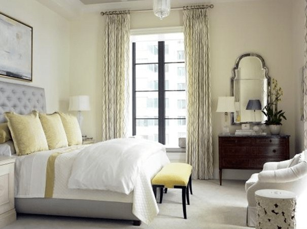 Best Gray And Yellow Bedroom Transitional Bedroom Womack With Pictures