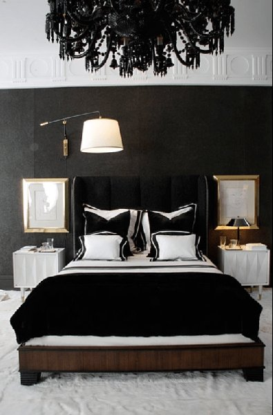 Best Black Velvet Headboard Contemporary Bedroom With Pictures
