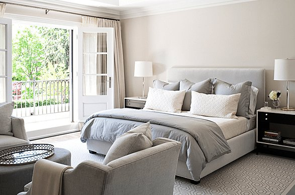 Best Gray Duvet Transitional Bedroom Jennifer Worts Design With Pictures