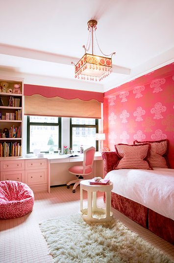 Best Red Daybed Contemporary Girl S Room Jennifer With Pictures