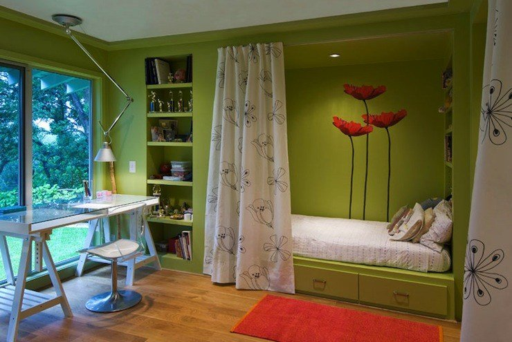 Best Built In Daybed Contemporary Girl S Room Dillon Kyle With Pictures