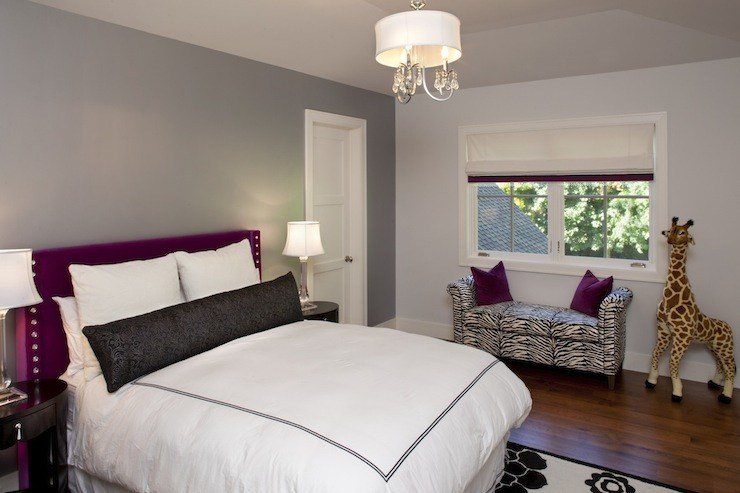 Best Gray And Purple Room Contemporary Girl S Room With Pictures