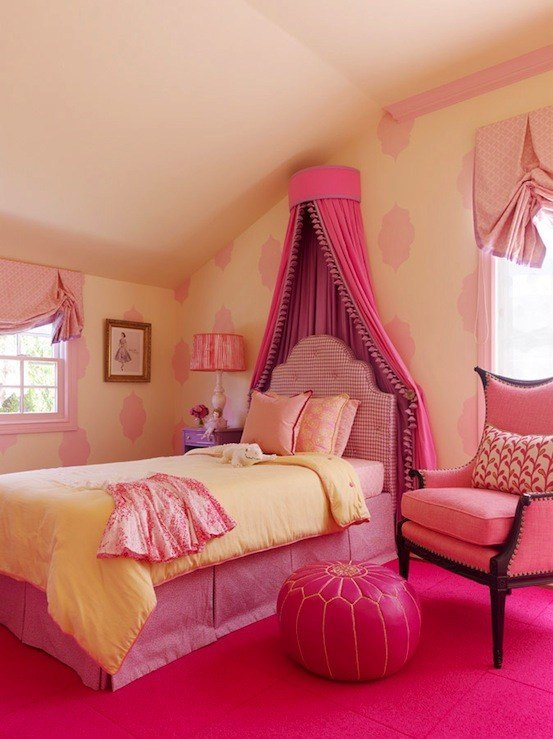 Best Little Girl S Pink Room Transitional Girl S Room With Pictures