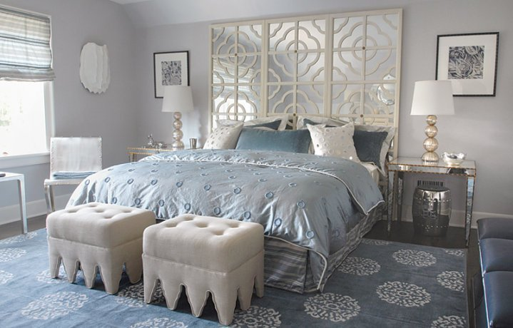 Best Mirror Headboard Contemporary Bedroom Mabley Handler With Pictures