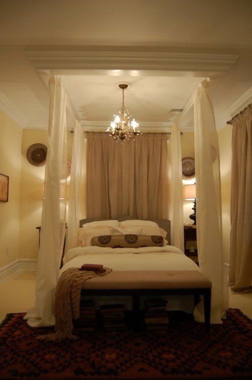 Best Ceiling Bed Canopy Eclectic Bedroom Hgtv With Pictures