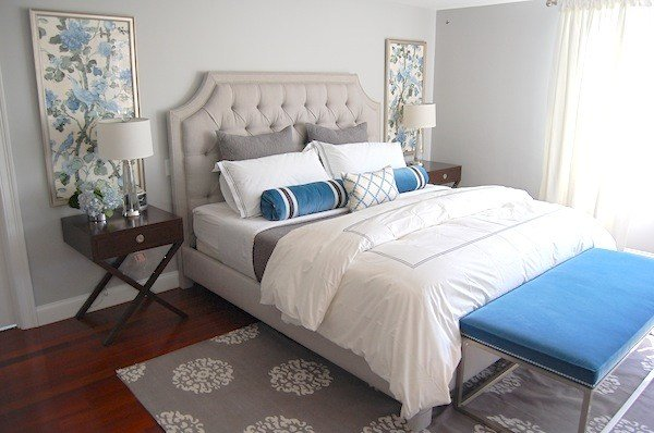Best Gray And Blue Bedroom Transitional Bedroom Erin With Pictures