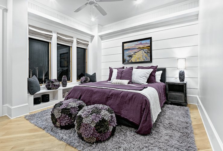 Best Purple And Gray Girl S Room Contemporary Girl S Room Beach Chic Design With Pictures