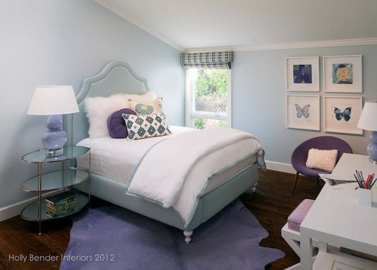 Best Blue And Purple Girl S Room Contemporary Girl S Room With Pictures