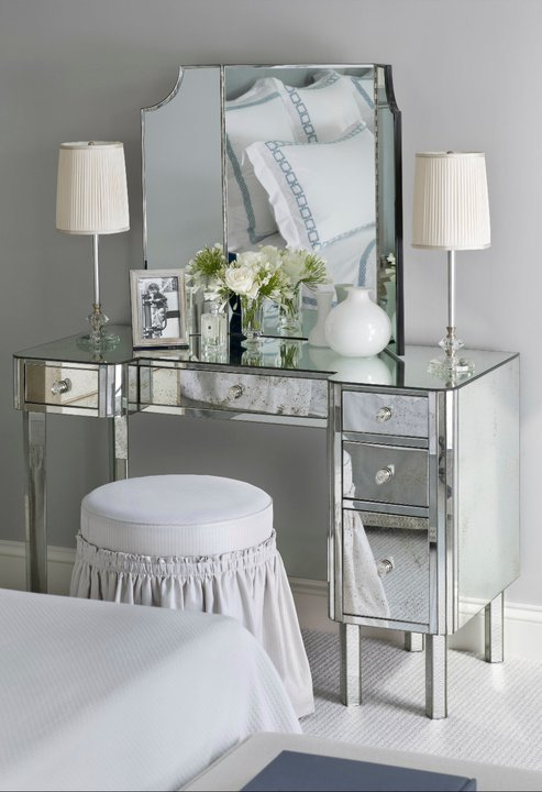 Best Mirrored Vanity Traditional Bedroom Sandra Nunnerley With Pictures