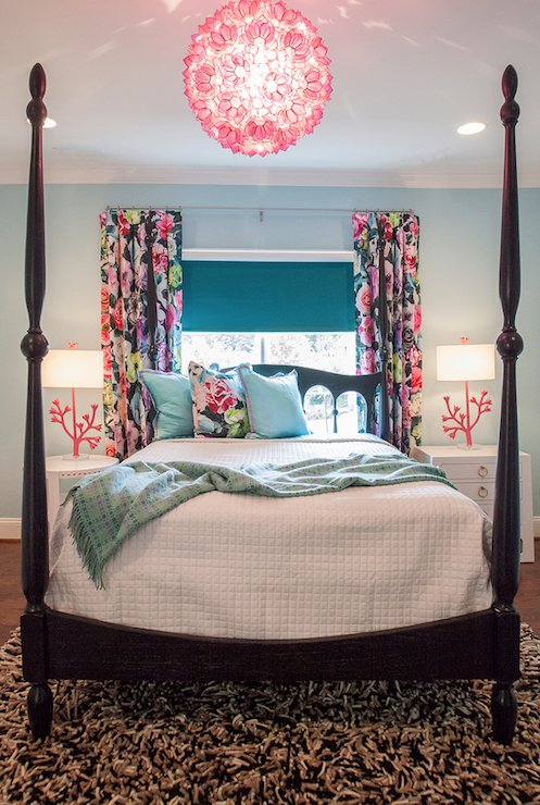 Best Pink Capiz Chandelier Contemporary Girl S Room Lucy With Pictures