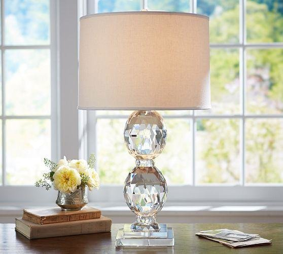 Best Carlotta Faceted Crystal Bedside Lamp Base Pottery Barn With Pictures