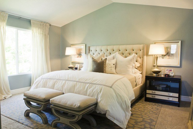 Best Ivory Tufted Headboard Contemporary Bedroom Sherwin With Pictures