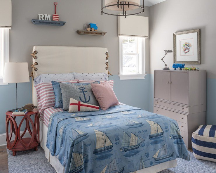 Best Two Tone Walls Cottage Boy S Room Benjamin Moore With Pictures