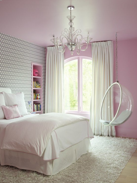 Best Pink And Gray Kids Bedroom Contemporary Girl S Room With Pictures
