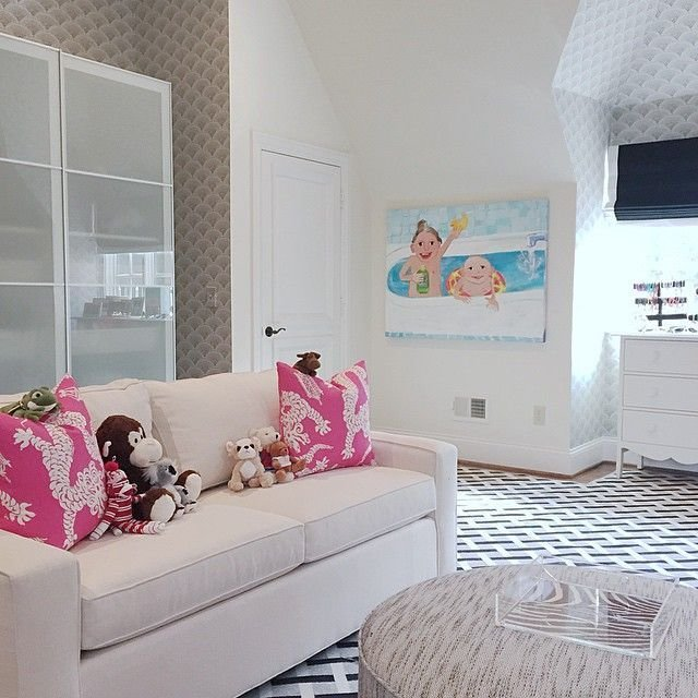 Best Pink And Gray Bedroom Contemporary Girl S Room Great Neighborhood Homes With Pictures