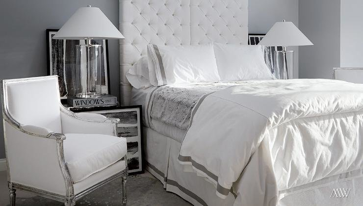Best White And Grey Bedroom Design Contemporary Bedroom With Pictures
