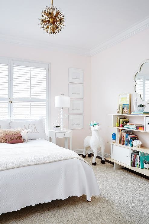 Best Pale Pink Girls Bedroom Transitional Girl S Room With Pictures