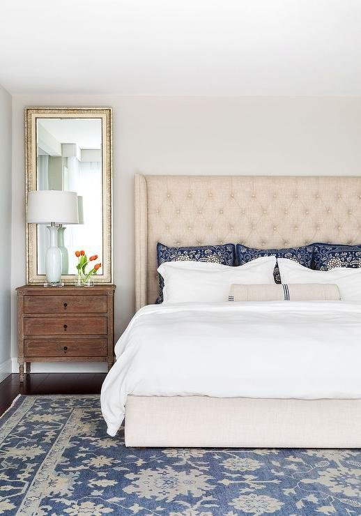 Best Cream And Blue Bedroom Ideas Transitional Bedroom With Pictures
