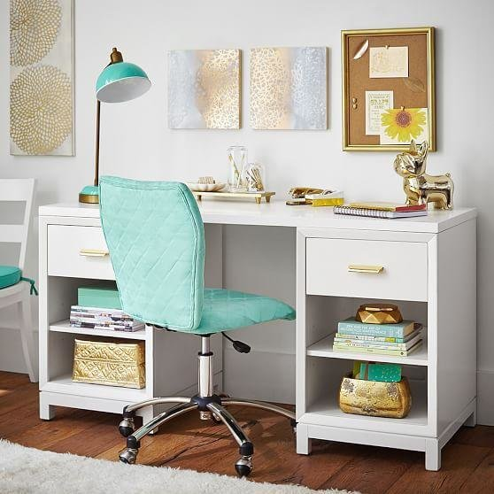 Best White Rowan Cubby Storage Desk With Pictures