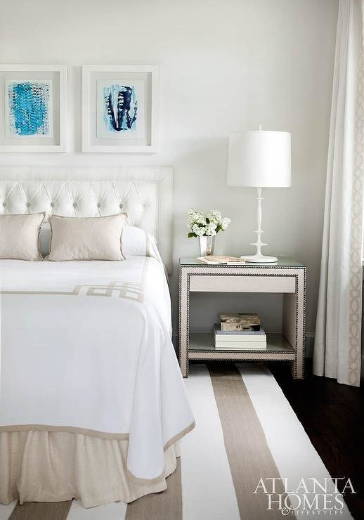 Best White And Beige Bedroom With Greek Key Bedding With Pictures
